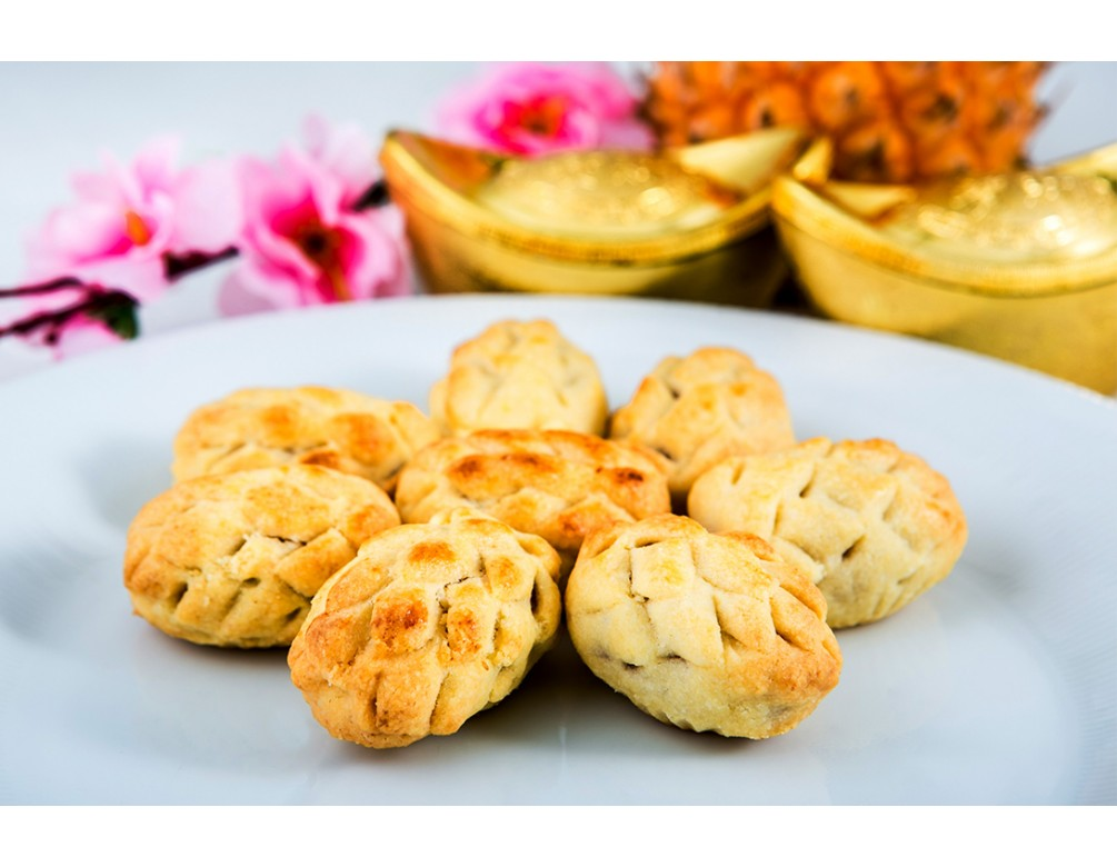 Melt-In-Your-Mouth Pineapple Tarts (Eggless, Nut-Free) (Bottle of 18 Pcs)