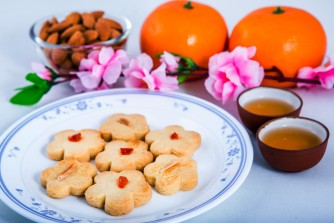 Almond Blossoms (Cookies) (Eggless, Dairy-Free) (Bottle of 45 Pcs)