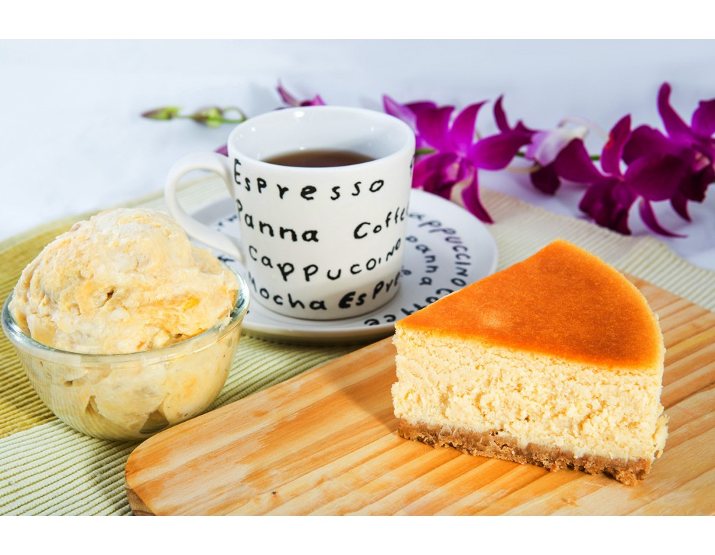 Rich Durian Baked Cheese Cake