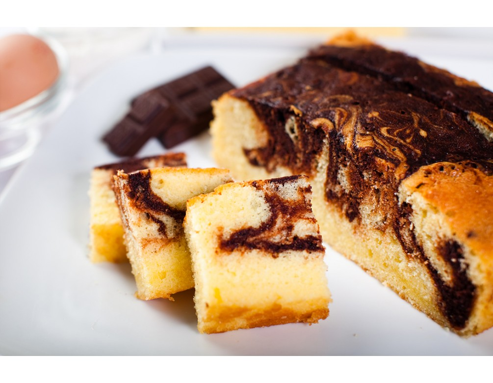 Chocolate / Coffee Marble Butter Cake