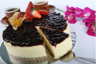 Rich Blueberry Baked Cheese Cake
