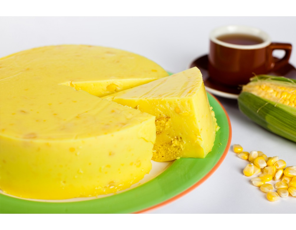 Sweet Corn Custard Cake