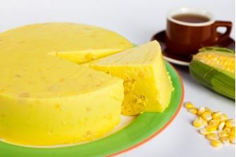 Sweet Corn Custard Cake